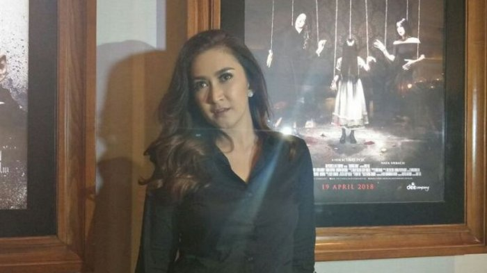 Nafa Urbach saat ditemui dalam acara oeluncuran Trailler dan Poster Film Kembang Kantil di Metropole XXI, Cikini, Jakarta Pusat, Selasa (20/3/2018)