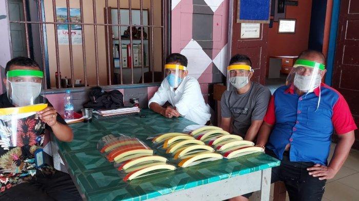 Napi di Binjai Produksi Ribuan Masker dan Face Shield. Dibagikan Secara Gratis