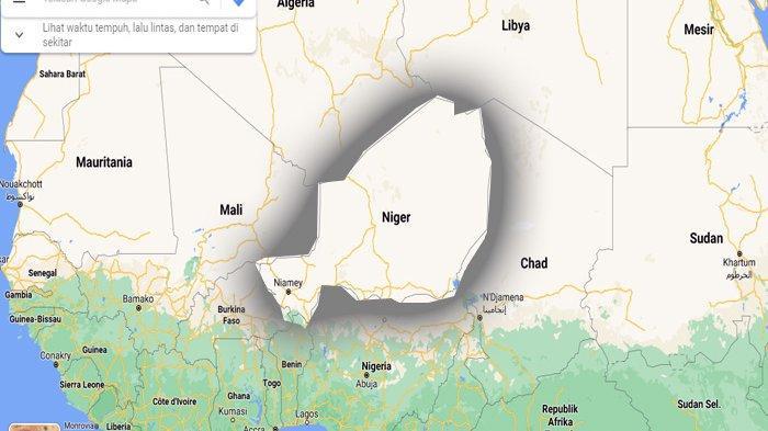 Peta Negara Republik Niger