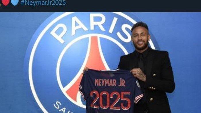 Neymar di PSG hingga 2025