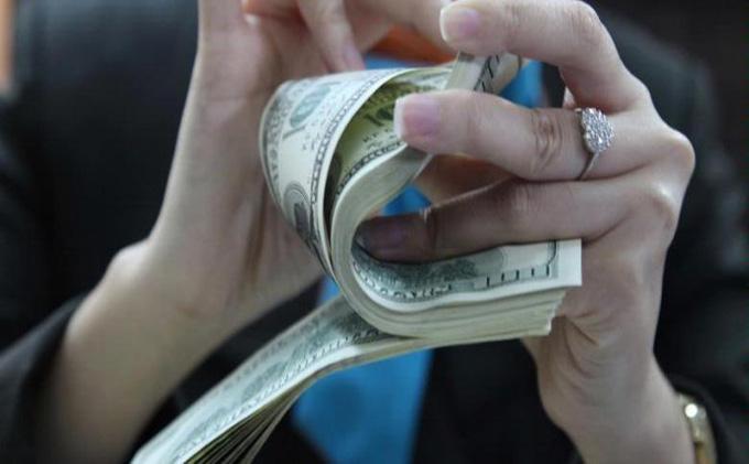 ilustrasi uang dolar.