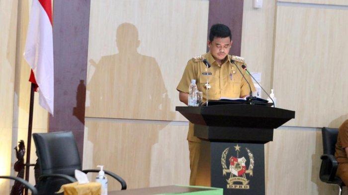 Rapat Paripurna, Bobby Nasution Sampaikan Kebijakan Pembatasan Akibatkan Turunnya Pendapatan Daerah
