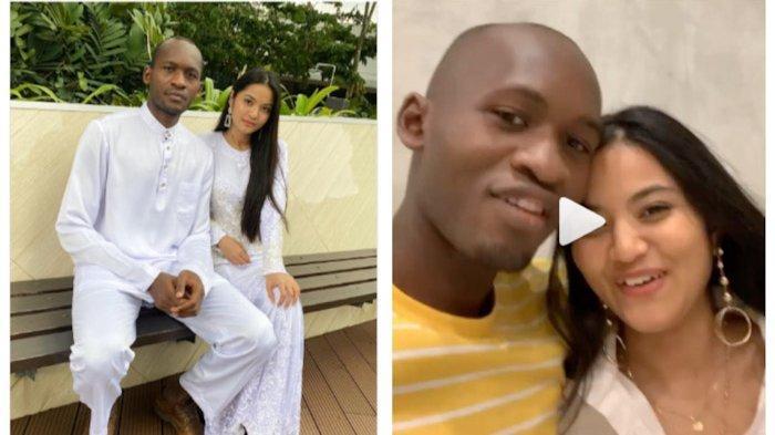 Potret terbaru Nur Afilah dan Adama Mohamed Camara setelah satu tahun pernikahannya.