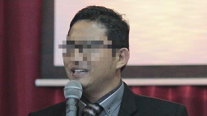 Oknum pendeta dan kepala sekolah berinisial BS yang dilaporkan kasus pencabulan di SD Swasta di Medan Selayang