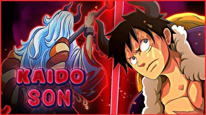 Kolase Yamato dan Monkey D Luffy