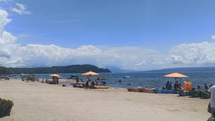 Nikmati Liburan di Pantai Lumban Bulbul Toba, Bisa Bermain Air Sepuasnya