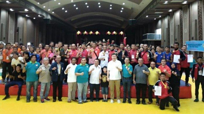 Raih 7 Medali Emas, Pengcab Tanah Karo Juara Umum Kejurda Wushu Sanda Sumut 2019