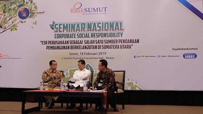 Bank Sumut Hadirkan Seminar Nasional CSR, Hadirkan Pembicara yang Kompeten