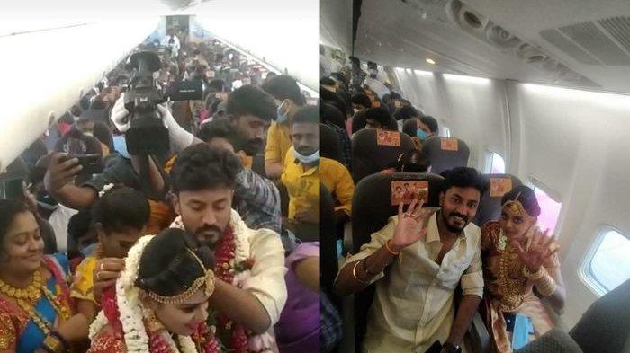 Pasangan Pengantin India Ini Sewa Pesawat, Nekat Gelar Pernikahan di Udara, Dihadiri Ratusan Orang