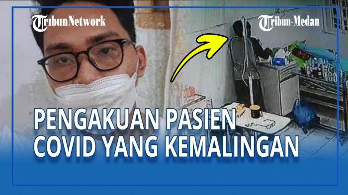 Pasien Covid-19 berinisial IF menjelaskan kronologi pencurian yang dialaminya saat isolasi di RSUD Pirngadi Medan, Jumat (23/4/2021).