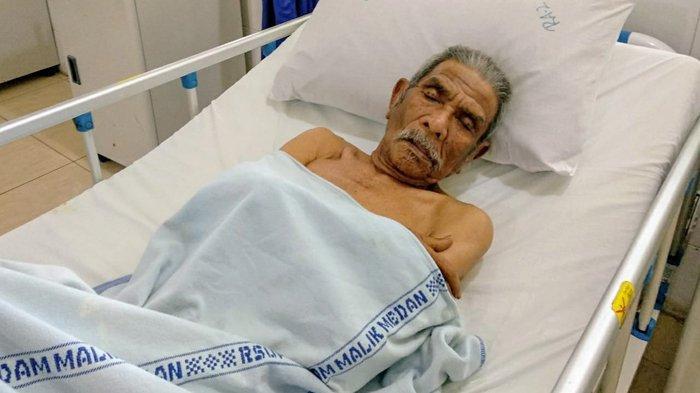 Kasihan Kakek Busnal Lubis Penderita Gangguan Jiwa Tak Miliki Kerabat saat Dirawat RSUP Adam Malik