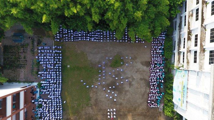 Upacara HUT ke-73 Republik Indonesia, Paskibra YPSA Bentuk Formasi Lafadz Muhammad
