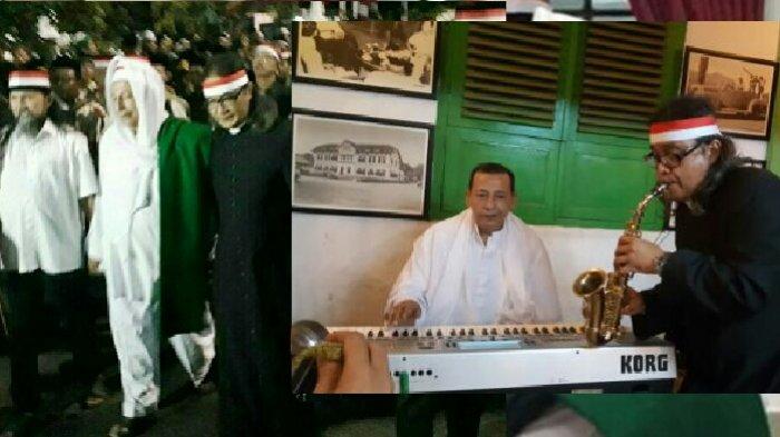 Begini Keakraban Habib Lutfi dan Pastor Budi Purnomo usai Tausiyah, Main Musik Bareng