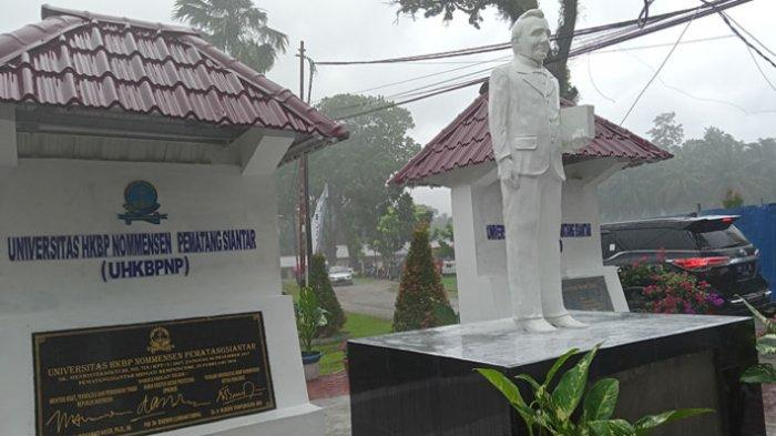 Gubernur Edy Rahmayadi Sumbang Patung IL Nommensen dan Taman ke UHN Pematangsiantar