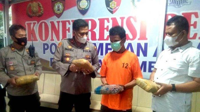 Pedagang Sandal Penjual 10 Kg Ganja Dijebak Polisi, Terancam Hukuman 20 Tahun