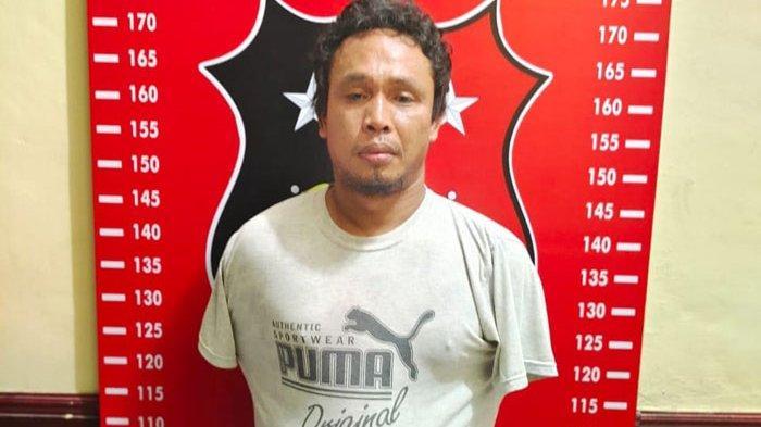 Pelaku bernama Muhammad Nur (37) alias Maknur warga Dusun III, Desa Bandar Labuhan, Kecamatan Tanjung Morawa, Deliserdang, diamankan Sat Reskrim Polresta Deliserdang, Jumat (11/6/2021).