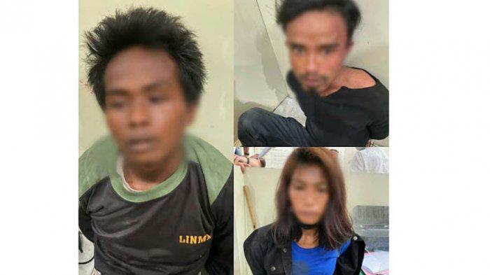 PARA tersangka pembunuhan seorang wanita di Humbahas diperiksa dan ditahan di Mako Polres Humbang Hasundutan.