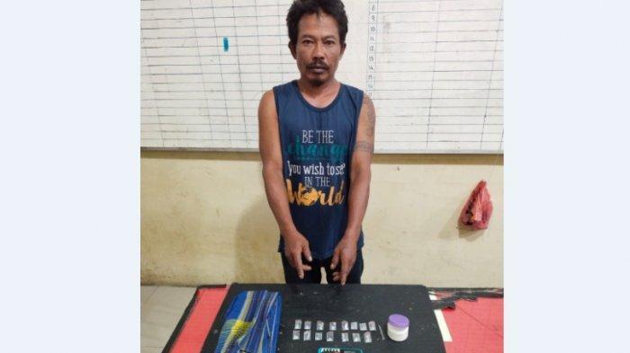 ADYANTO Tarigan Sembunyikan Belasan Paket Sabu di Sarung, Dibekuk Satresnarkoba Polres Tanah Karo