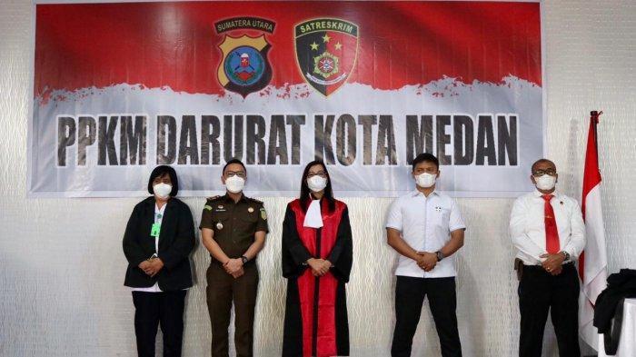 TEGAS, Pelanggar Prokes saat PPKM Darurat di Kota Medan Dihukum, Berikut Identitasnya
