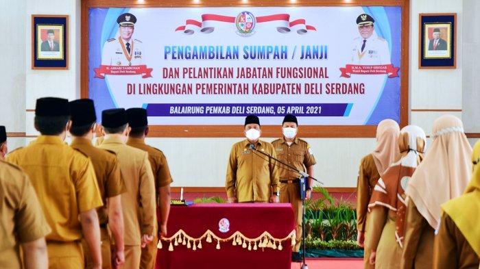 Lantik 110 Pejabat Fungsional, Bupati Ashari Ingin Pelantikan Jadi Sarana Penguatan