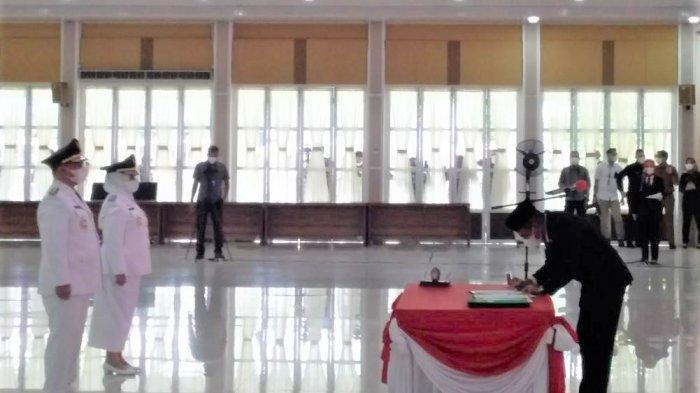 Akhirnya, Bupati dan Wakil Bupati Labuhanbatu Dilantik, Edy Rahmayadi Singgung Duit APBD