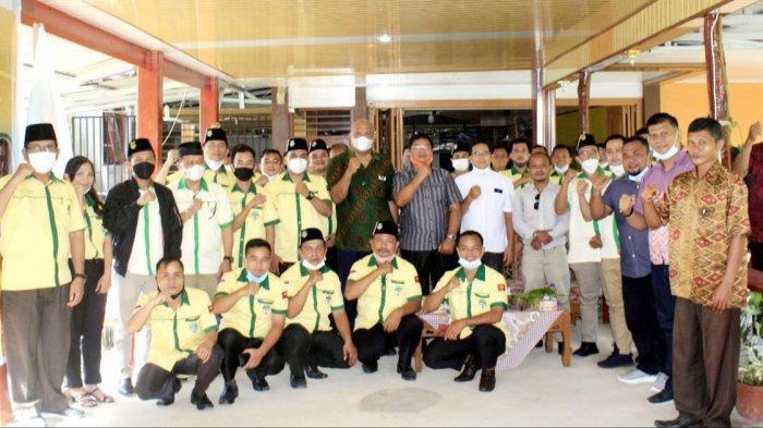 Pelantikan Pengurus Pemuda Katolik Nias Utara berlangsung dengan protokol kesehatan di Taman Naya Residence, Lotu Kabupaten Nias Utara, Senin (5/7/2021).
