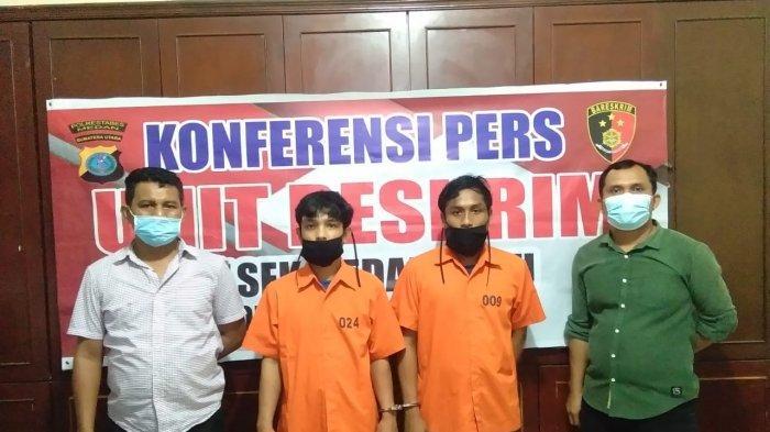 Curi Sepeda Motor di Lokasi Pesta, Dua Pelaku Ditangkap Petugas Kepolisian
