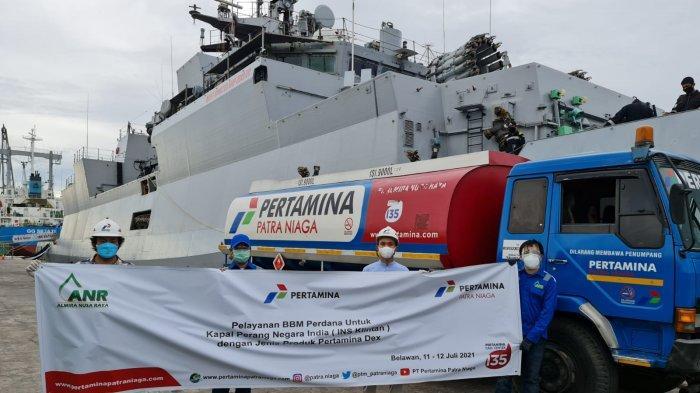 Pertamina Suplai BBM untuk Kapal Perang India di Belawan