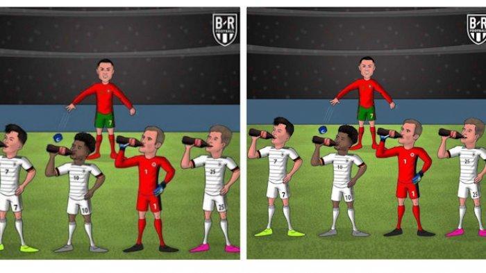 Jerman Bantai Portugal, Viral Gambar Cristiano Ronaldo Marah Melihat 4 Pemain Jerman Minum Coca-Cola