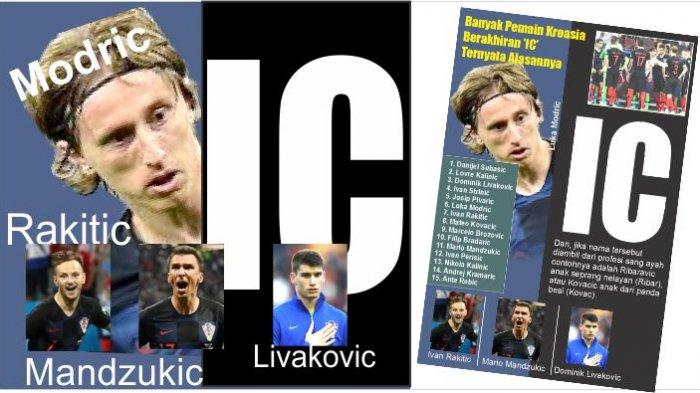 Modric, Rakitic, Mandzukic, Banyak Pemain Kroasia Berakhiran 'IC', Ternyata Ini Alasannya