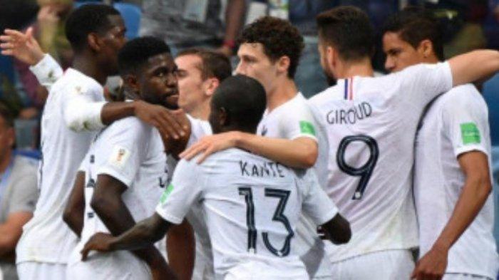 Prancis Melaju ke Babak Semifinal Piala Dunia 2018, Uruguay Kalah tanpa Edinson Cavani
