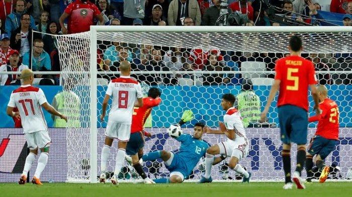 FULL TIME: SPANYOL vs MAROKO 2-2, Andres Iniesta dkk Bertemu Rusia di Babak 16 Besar