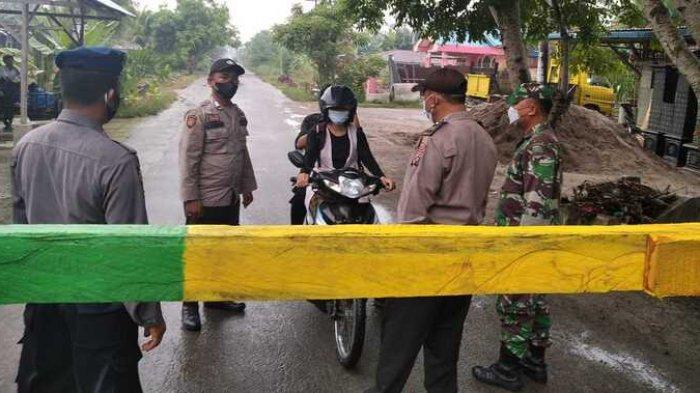 Sergai Terapkan PPKM Level 3, Akses Masuk ke Beberapa Desa Dipasangi Palang
