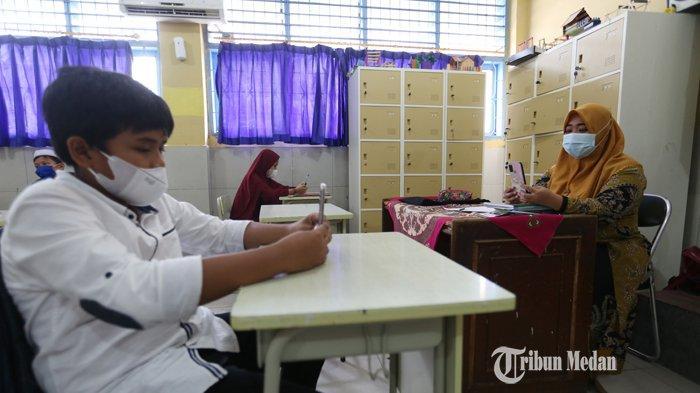 BERITA FOTO SMP Muhammadiyah I Optimis Dengan Pembelajaran Tatap Muka Dengan Prokes Ketat