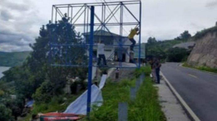 Baliho Bapaslon Vantas di Samosir Dibongkar, Tim Pemenangan Protes Anggap Diskriminatif