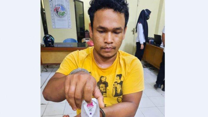 Pengedar Narkoba di Tanjungbalai Ditangkap dari Sebuah Kontrakan, Dua Paket Sabu Disita