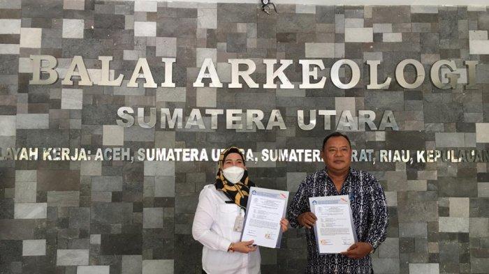 Pemkab Langkat Terima Hibah Peninggalan Budaya Langkat dari Balai Arkeologi Sumut
