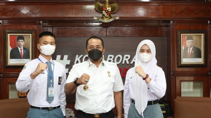 DUA Pelajar Kota Medan Calon Paskibra Tingkat Nasional Bertemu Wakil Wali Kota Medan