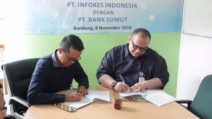 Bank Sumut dan Infokes Lakukan Kerjasama, Hadirkan Aplikasi Permudah Layanan untuk Klinik