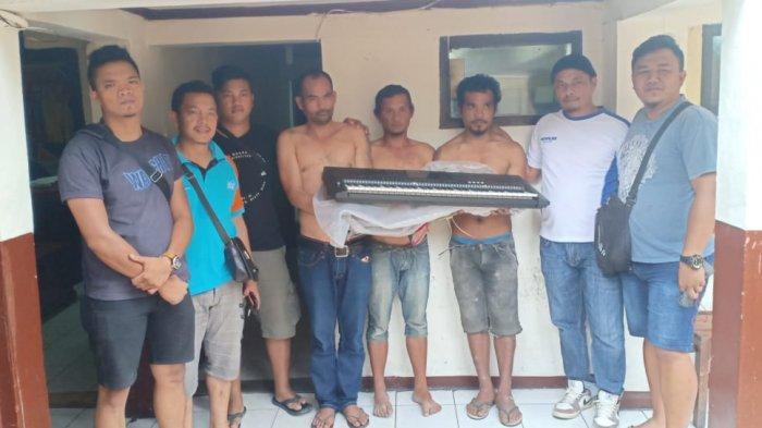 Beraksi di Gereja dan Rumah Sakit, Lima Pencuri Meringkuk di Polres Taput