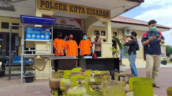 Tiga Sindikat Pencuri Spesialis Rumah Kosong Ditangkap Petugas Polsek Kota Kisaran