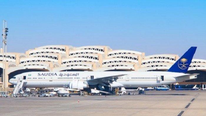 PENERBANGAN Ditutup, Nasib WNI di Arab Saudi tak Bisa Pulang ke Tanah Air, Gegara Varian Baru Corona. Foto Dok. Bandara Riyadh Arab Saudi