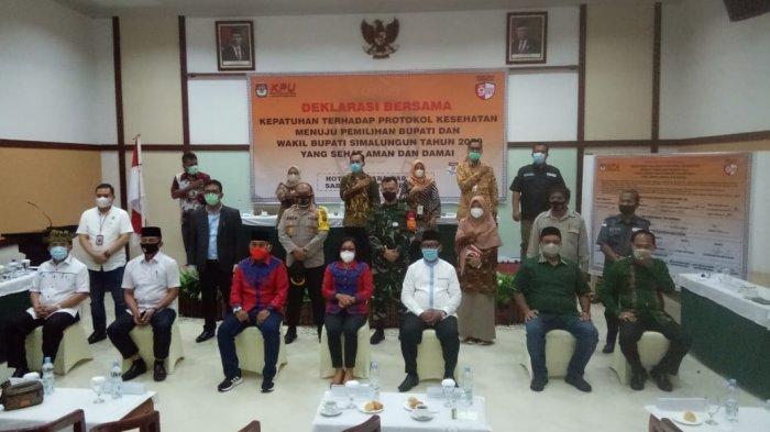 KPU Simalungun Tetapkan Empat Paslon Pilkada 2020, Pengundian Nomor Urut di Parapat