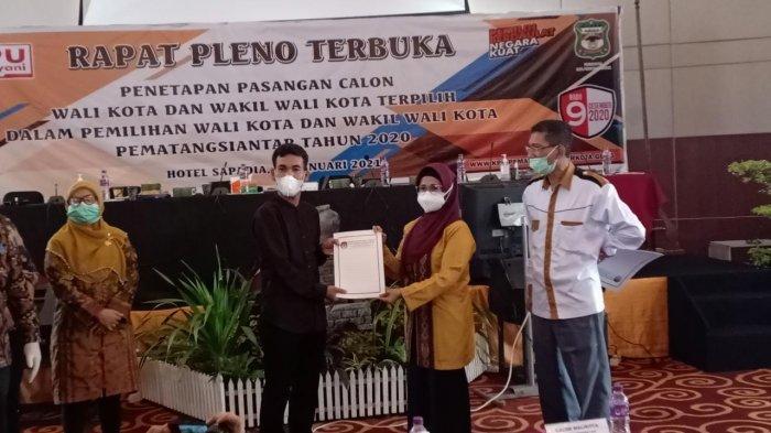 Almarhum Asner Silalahi Resmi Dinyatakan Calon Wali Kota Siantar Terpilih