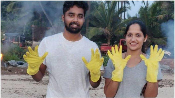 Pengantin Baru Batalkan Bulan Madu untuk Bersihkan Sampah di Pantai, Kisahnya Viral di Medsos