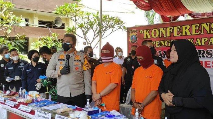 3,1 Kg Heroin Asal Malaysia Gagal beredar di Kota Medan