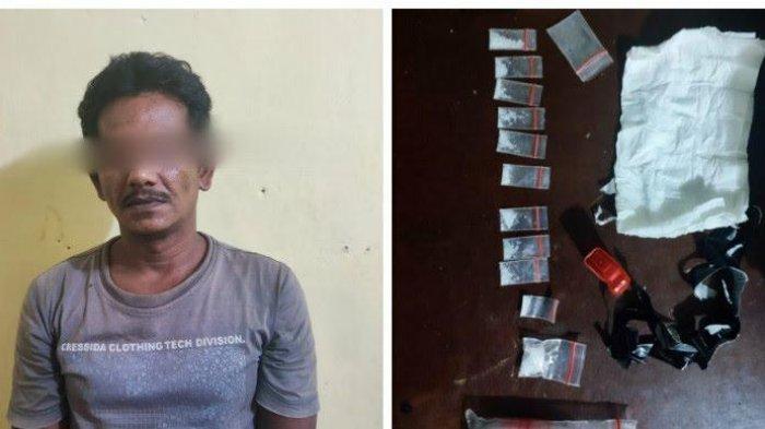 Pengedar Narkoba Level Kampung Dibekuk Bersama 10 Paket Sabu saat Hendak Jualan