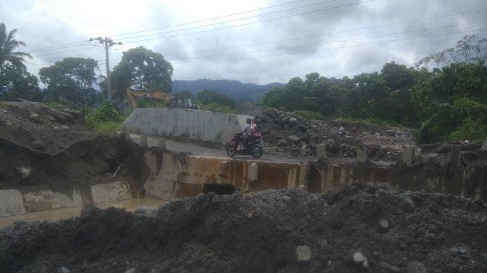Pascabanjir Lahar Dingin, BPBD Karo Lakukan Normalisasi di Jalur Laharan Gunung Sinabung