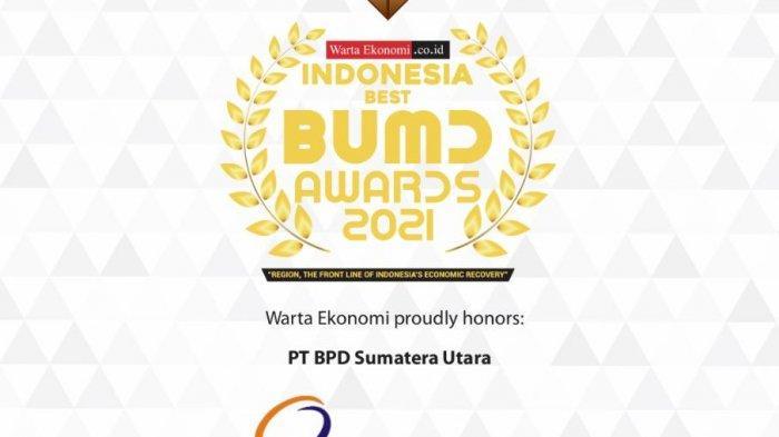 Berkontribusi terhadap Pengembangan Daerah, Bank Sumut Raih Best BUMD Awards 2021