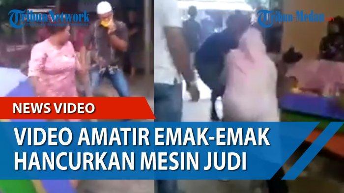 Viral Video Sejumlah Ibu-ibu Mengamuk dan Hancurkan Mesin Judi Tembak Ikan, Begini Reaksi Polisi